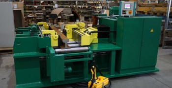 Straightening and bending machine EDZ 350 for railroad tracks and switches